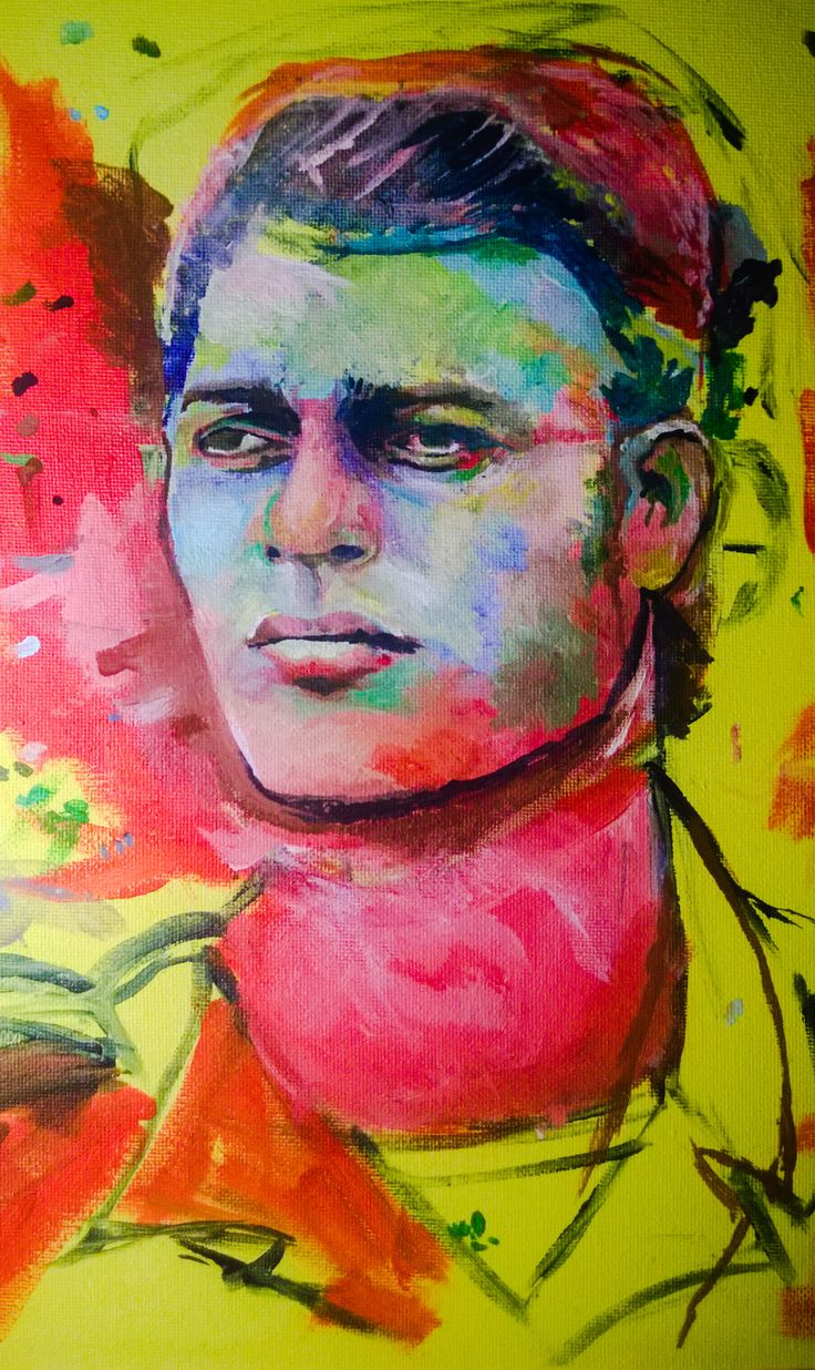 De Marinier Schilderij van een gewaardeerd vriend die ik uit het oog verloren ben. De kleuren kwamen voor de eerste maal op het doek in november 2014. Door de verbroken relatie is het werk altijd onaf gebleven.  Het doek is mijn eerste realistische portret en is mede door zijn verhaal van grote persoonlijke waarde. Ik hoop het werk af te ronden eind 2016 / begin 2017. ©Studio Steen