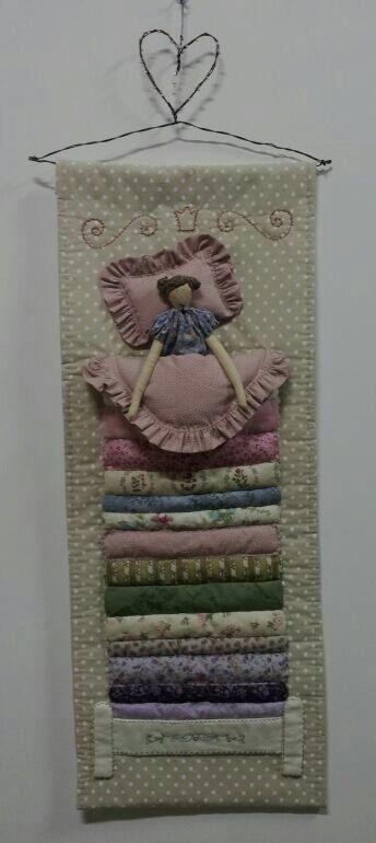 Tilda. A princesa e a ervilha. Confecção by Maria Bonequeira.