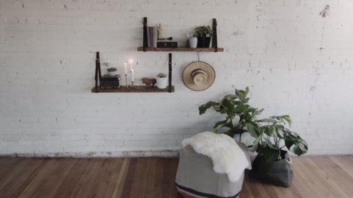 DIY Rustic Floating Shelf