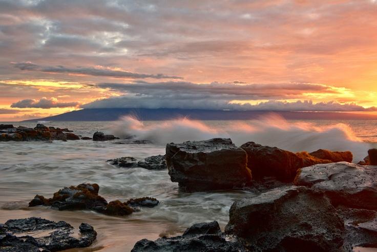 Потрясающие закаты на Гавайях