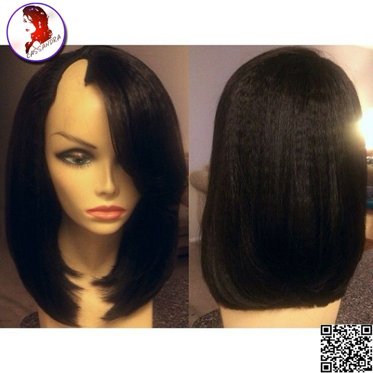 115.05$  Watch now - http://alio3u.worldwells.pw/go.php?t=32715249231 - 8A Grade U Part Wig Human Hair Short Wigs Human Hair Light Yaki Straight Brazilian 100% Unprocessed Virgin Wigs For Black Woman 115.05$