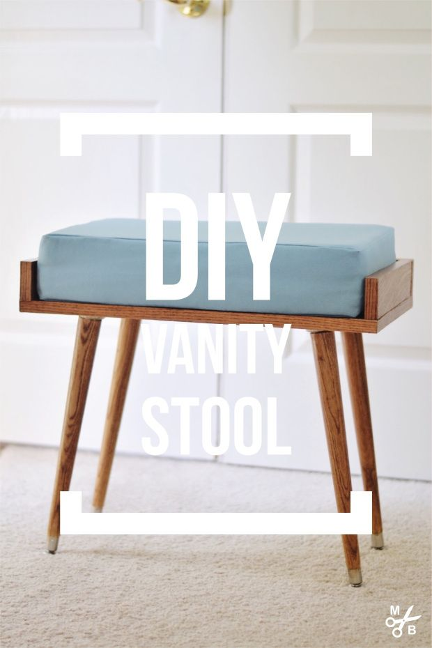 Vanity Stool Diy Stool: DIY Vanity Stool – Minted Bold