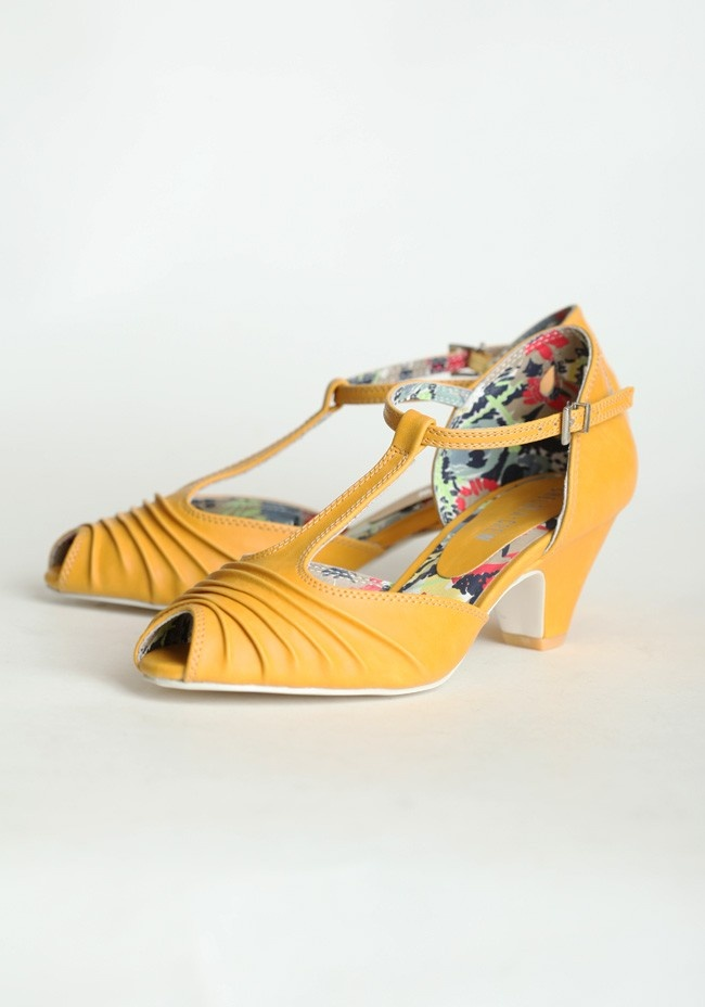 Nik Nak Heels By Chelsea Crew In Mustard. Umm  I want these!