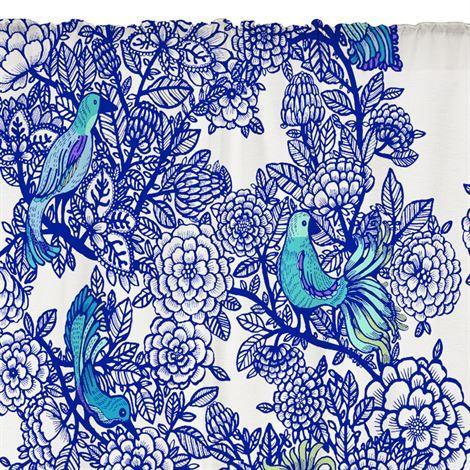 Carambola curtain - blue - Vallila Interior