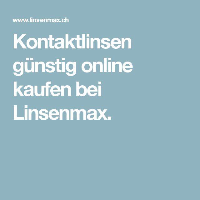 Kontaktlinsen günstig online kaufen bei Linsenmax.