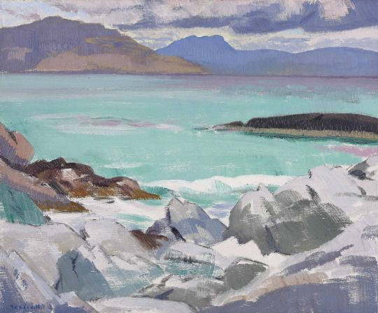 Francis Campbell Boileau Cadell (Scotland 1883-1937) The Beach, Iona (c. 1928) oil on panel 36.8 x 44.5 cm