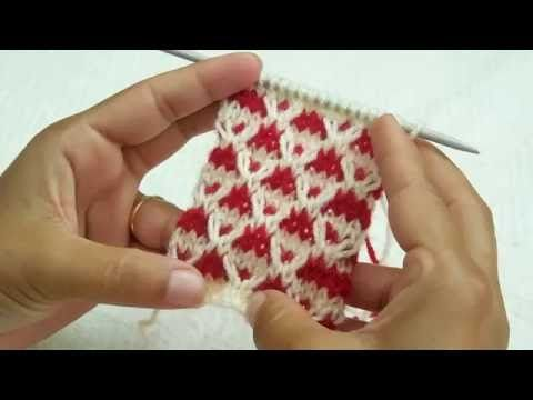 Two Colour Knitting Pattern - YouTube