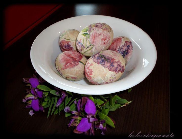 Lookcool...λεια γεύματα! : Ντεκουπάζ σε αυγά, χωρίς κόλλα και ασπράδι