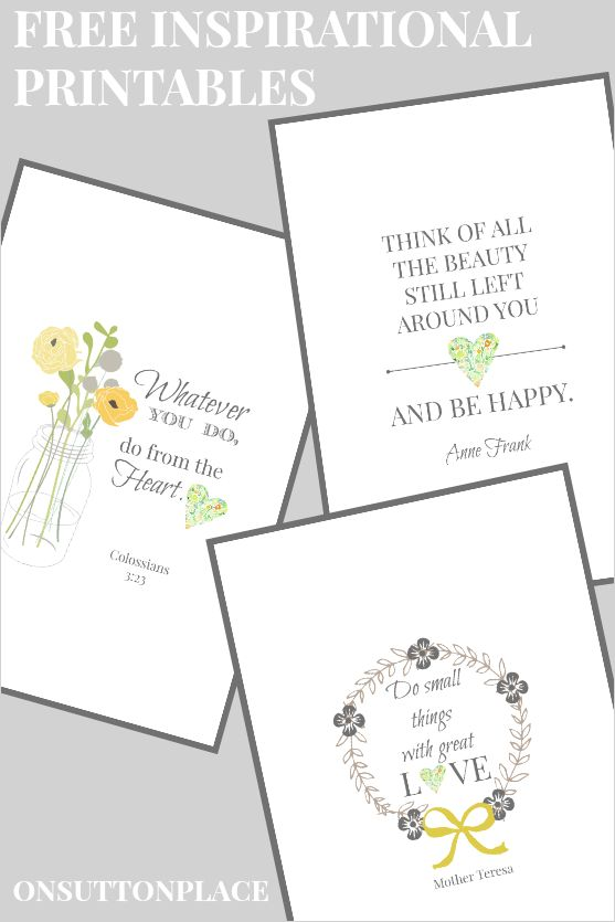 Inspirational Free Printables | On Sutton Place