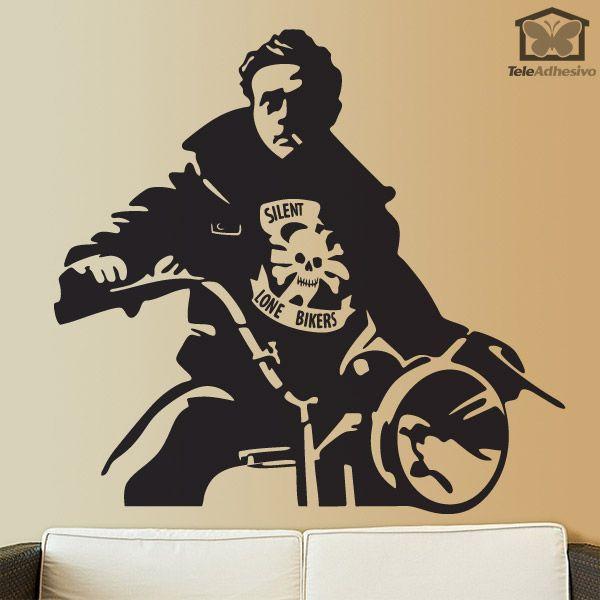 Stickers muraux James Dean Motorbike