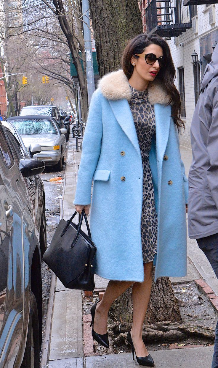 #AmalClooney spotted in NYC wearing #ScervinoPreFall18 wool coat. #AmalAlamuddin #Clooney
