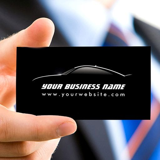 414 best modern business cards images on pinterest business card cool car outline auto repair business card cheaphphosting Image collections