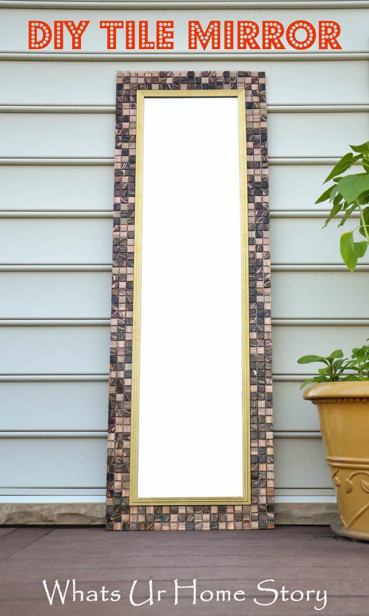 DIY Tile Mirror. 17 best ideas about Tile Mirror Frames on Pinterest   Framing a