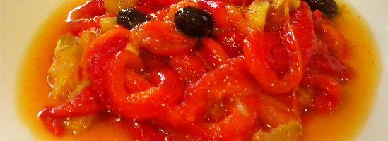 """Ensalada de Pimientos – """"Salat med brændte peberfrugter"""""""