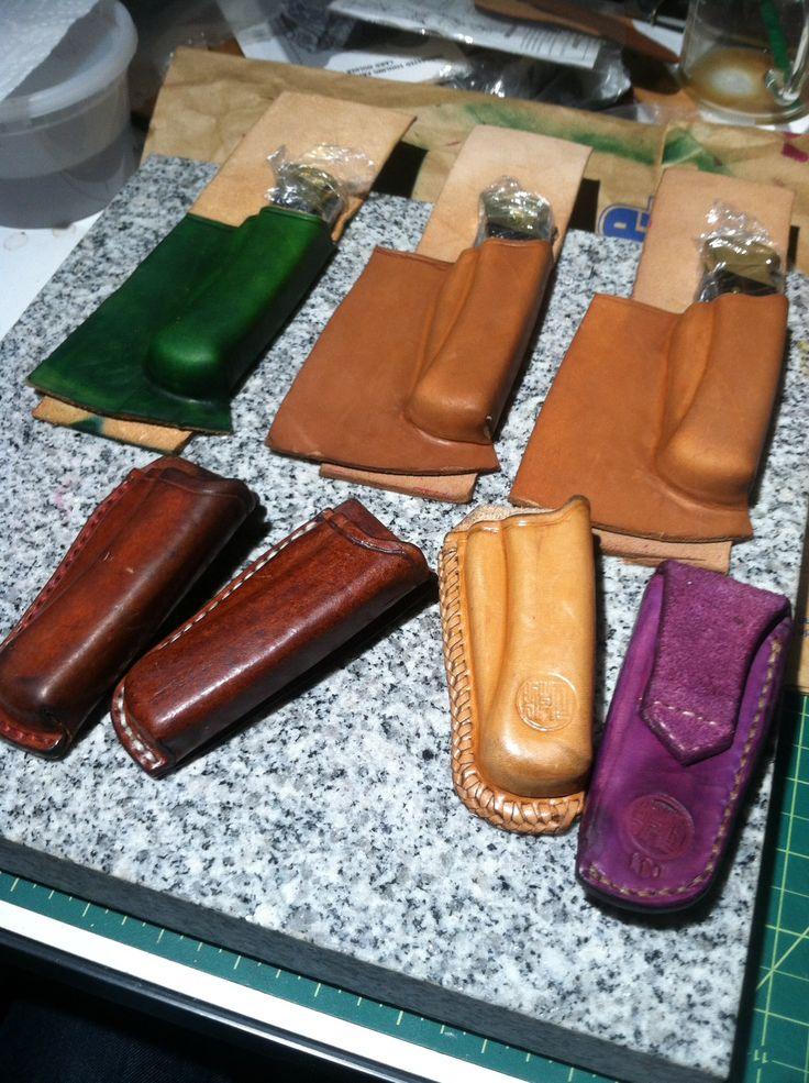Wet Molding Buck 110 knife sheaths