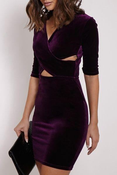 fancy-velvet-crisscross-front-body-con-dress
