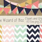 FREE - This download contains high quality digital chevron papers and bunting clipart.    The files were created at 300 dpi and the .png and .jpg files are ...