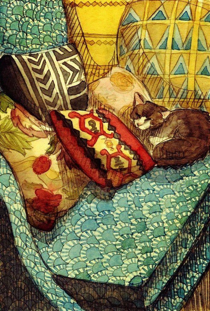 Уют и кот)