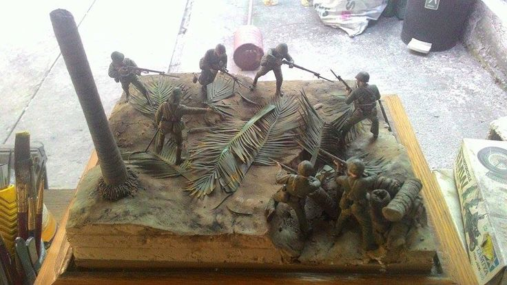 Marines! USMC vs. SNLF. Tarawa. The opposing sides' positions.
