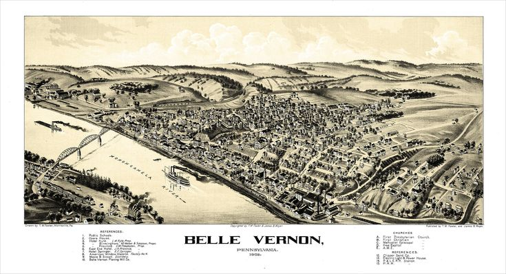 Excited to share the latest addition to my #etsy shop: Belle Vernon Map http://etsy.me/2odzNkj #art #print #digital #prints #mats #digitalprints #map #maps #bellevernon