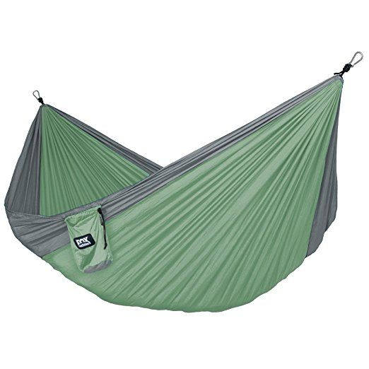 Medium image of amazon    alpha double camping hammock   lightweight portable rip stop nylon parachute hammock