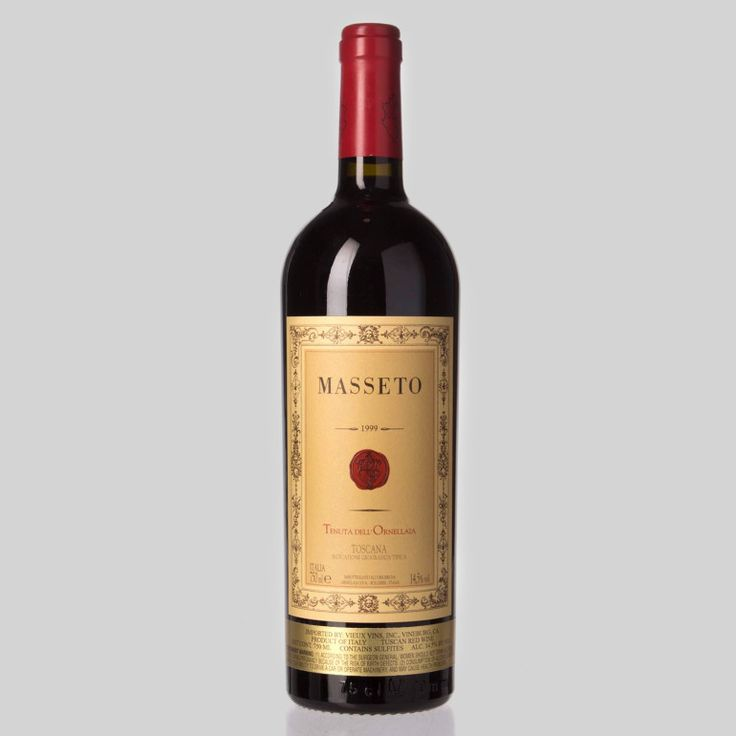 Tenuta dell'Ornellaia Masseto  Region: Bolgheri, Tuscany, Italy Wine: Merlot Price: $600–$3500 It's somewhat surprising to see that one of Italy's most cultish wines is a French variety, but perhaps Merlot was meant to be grown in Tuscany. Because the wine is not an Italian grape, it hasn't received Italy's top-tier DOCG wine classification...