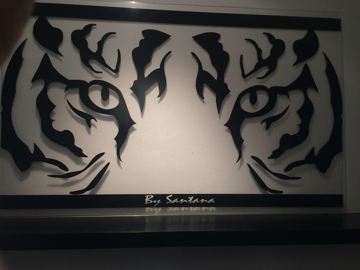 Cuadro minimalista mirada de tigre arte dise o moderno - Materiales de pintura de pared ...
