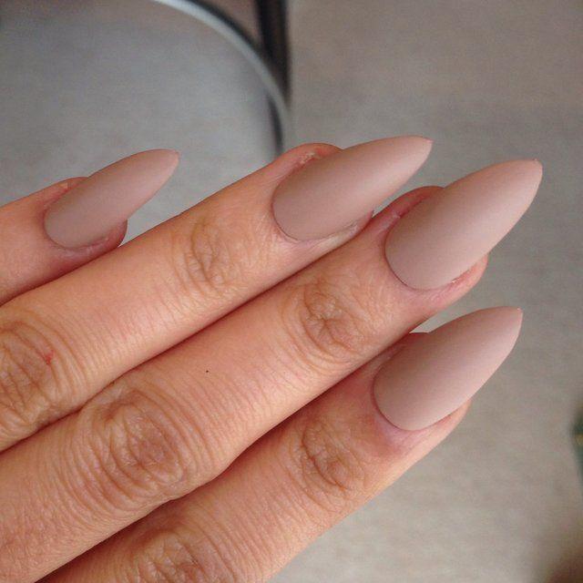 Gorgeous matte light brown stiletto nails ... | The Perfect 10 ...