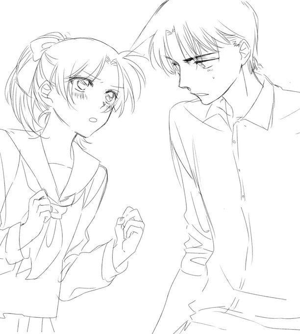 twitter  detektiv conan coole zeichnungen anime liebe