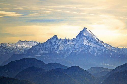 Der Watzmann, zentrales Bergmassiv der Berchtesgadener Alpen, #Bayern #Bavaria