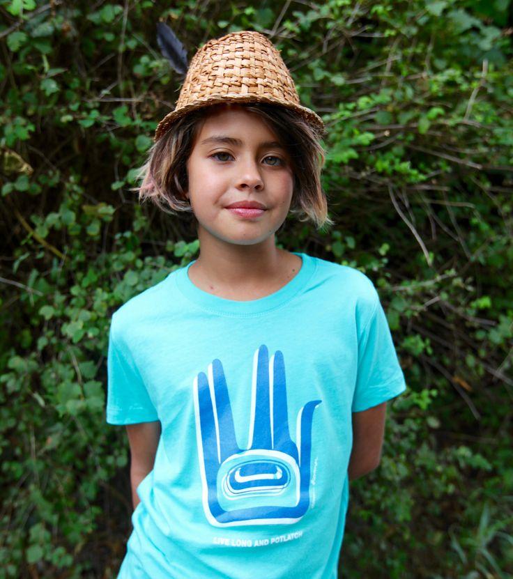 Live Long and Potlatch T-shirt by Tlingit artist Alison Bremner.