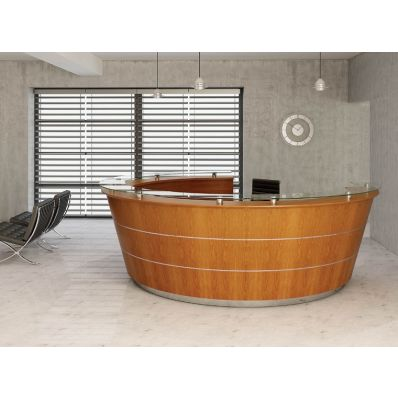 Premia - Curved reception desk 1