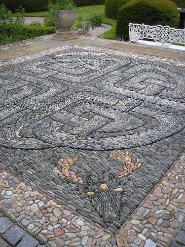 Celtic Pebble Mosaic, Deer Mosaic, Animal Mosaic