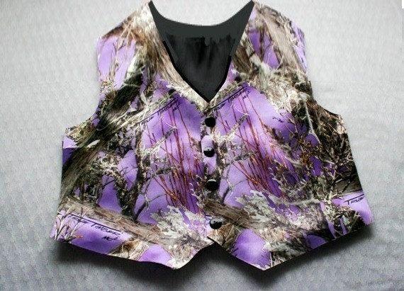 Mens Camo Vest Camouflage Vest Camo Vest Purple By IDoDoodads, $49.95