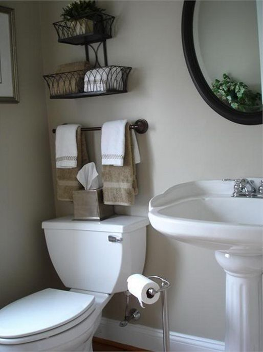 Best 25 half bathroom decor ideas on pinterest half Organizing ideas for small bathrooms