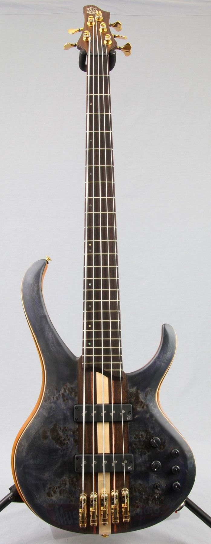 Ibanez BTB1605 Premium 5-String Bass Guitar Looking at this beauty, the words custom and boutique instantly come to mind. Select materials, top-of-the-line components, and a neck-thru body are all - more on www.guitaristica.org #bassguitar #guitars #guitaristica