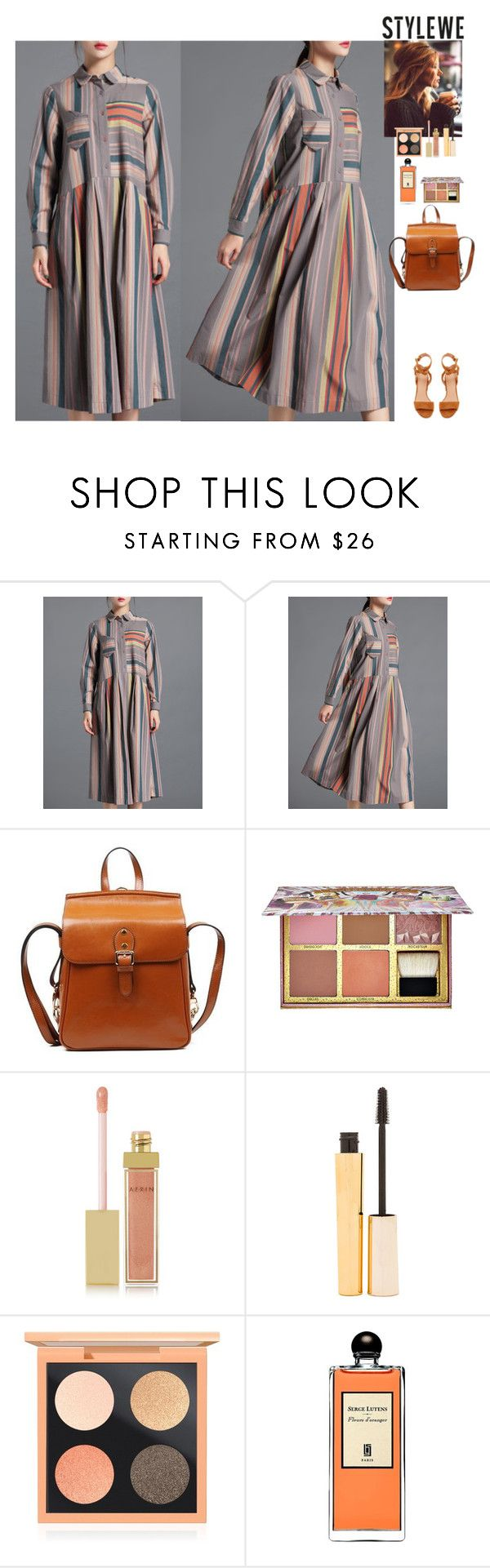 Outfit StyleWe by eliza-redkina on Polyvore featuring мода, Sigerson Morrison, Benefit, Stila, MAC Cosmetics, AERIN and Serge Lutens