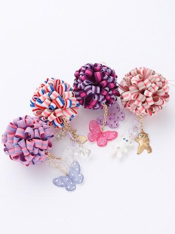 fafa ribbon pompoms