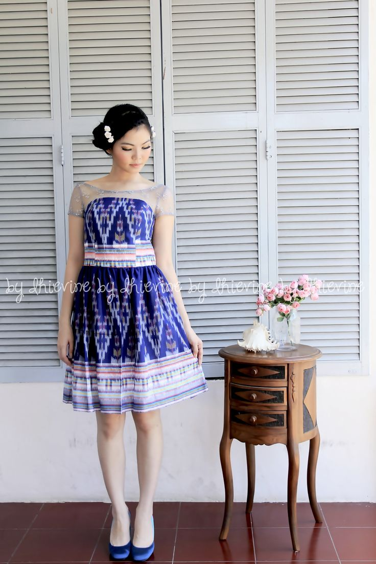 Ikat Dress | Pendapa Midnight Blue Dress | DhieVine | Redefine You