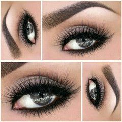 A truly gray eye is fascinating. I see this in True Winter and True Summer colouring. There may be other colours but barely enough to be noticed. I love that the eye makeup is equally colour-minimal so it doesn't take our attention away from the eye. Brown eye makeup would look dirty and the eye bloodshot.: