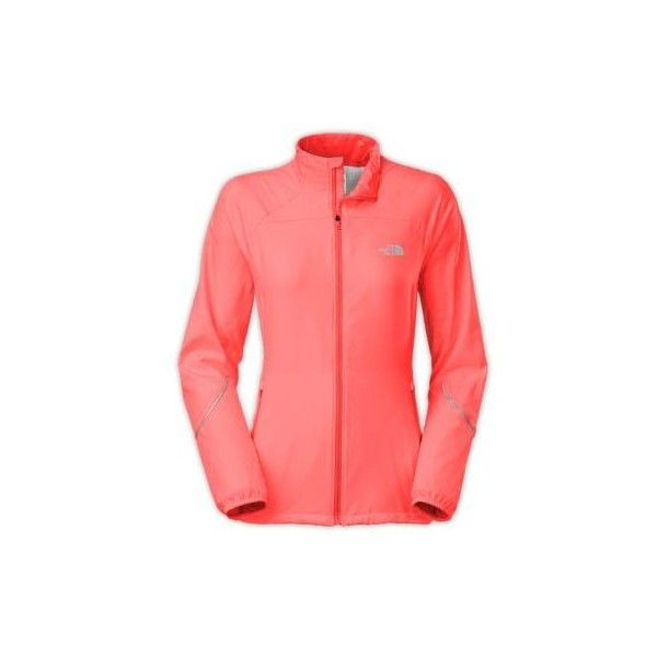 The North Face Women's Torpedo Jacket ($69) ❤ liked on Polyvore featuring activewear, activewear jackets, fiery coral, logo sportswear and the north face