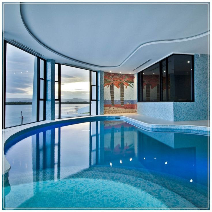 Indoor pool at Sovergn Islands home