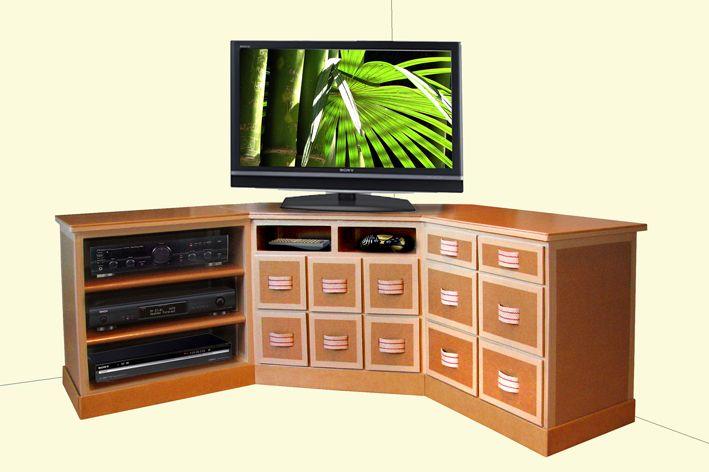 25 b sta meuble tv angle id erna p pinterest meuble for Meuble edgar