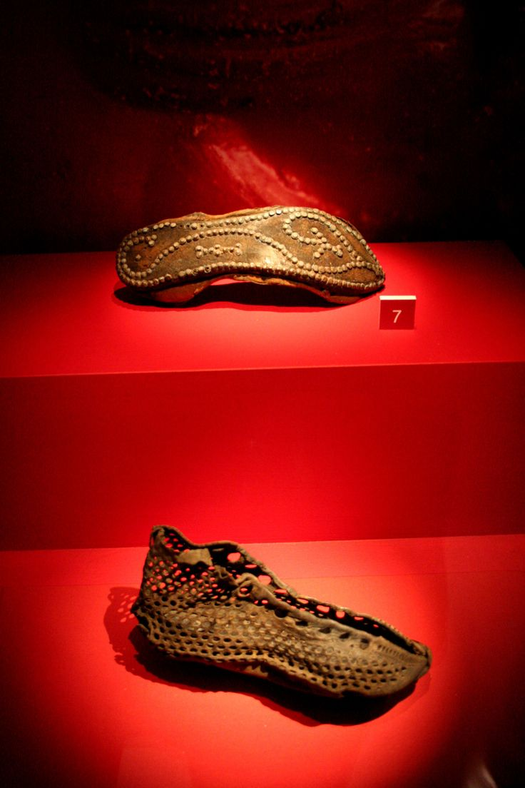 Ancient roman leather shoes found in Britain. 1st century AD