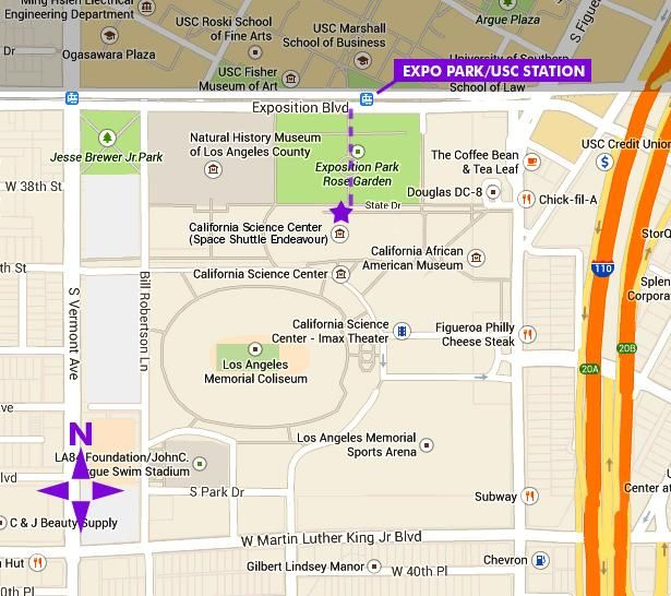 Walking map from Expo Line station | SoCal | Walking map, Map ... on