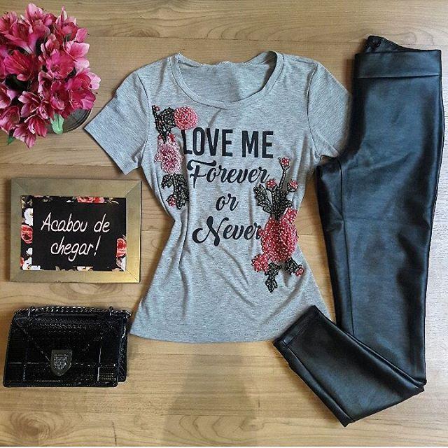 T-shirt com aplicação lindíssima + skinny 💕 Informações ✈️ Enviamos para todo o Brasil ✈️  📲📲WhatsApp(67) 9245-5782 📌📌Lojas físicas Rua Euclides da Cunha, 646 - Jd dos Estados | Shopping Campo Grande - 1•piso
