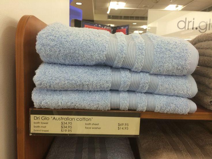 Pretty pale blue bath sheet