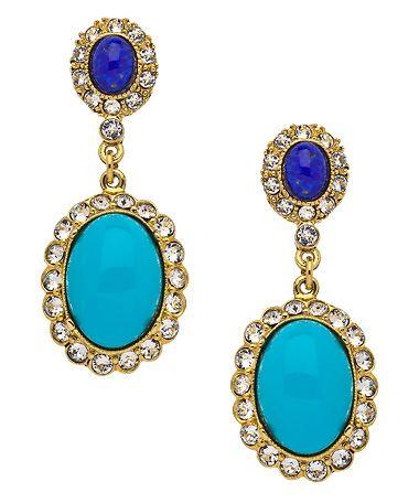 Ben-Amun Blue Fantasy Drop Earrings #maxandchloe