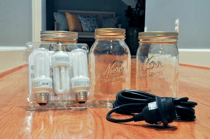 How to make a mason jar pendant light