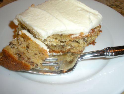 Mom's Banana Sour Cream Cake | Dinner At Sheila's